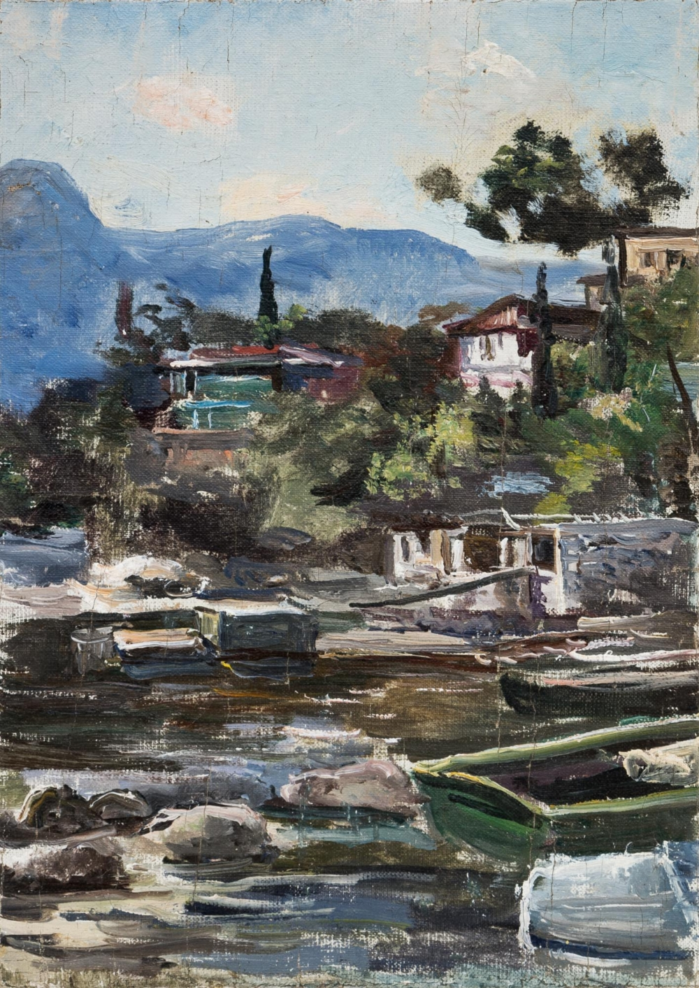 Картина «На берегу реки»