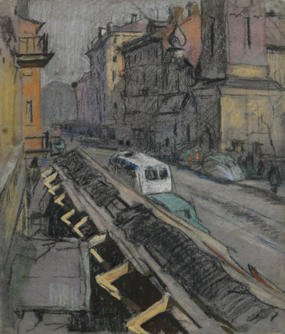 Пастель «В Ленинграде»