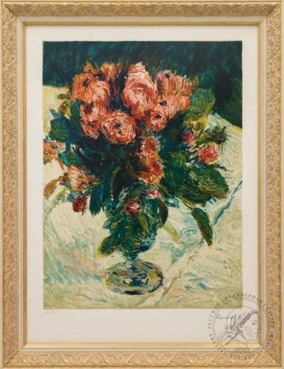 Литография «Ваза с цветами»