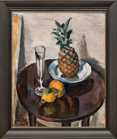 Картина «Ананас и яблоки»