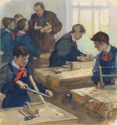 Иллюстрация к стихотворению С.В.Михалкова «Разговор с сыном»