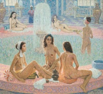 Картина «Турецкие бани»