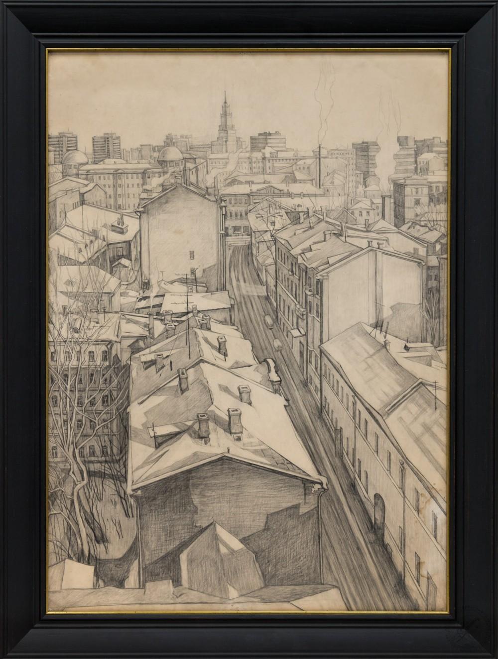 Рисунок «Арбатские переулки»