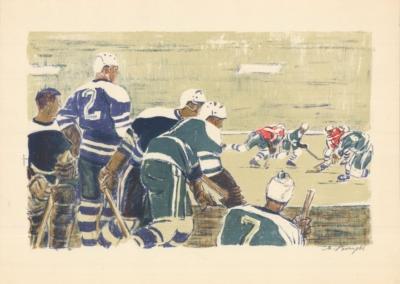 Литография «Хоккей»