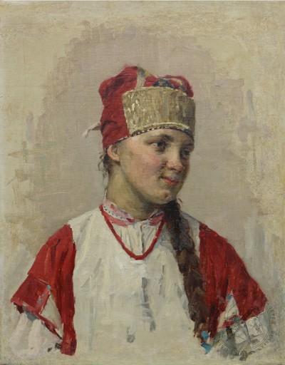 Картина «Портрет девушки в кокошнике»