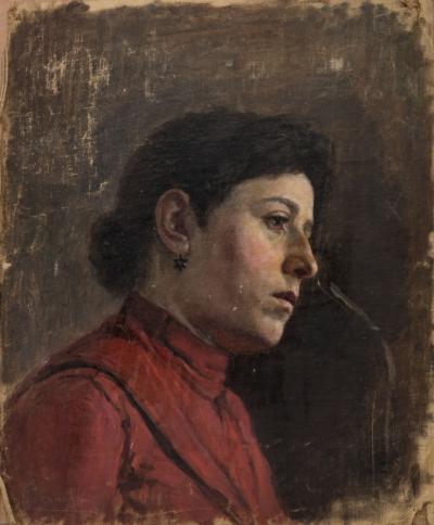 Розанов. Портрет девушки с сережкой