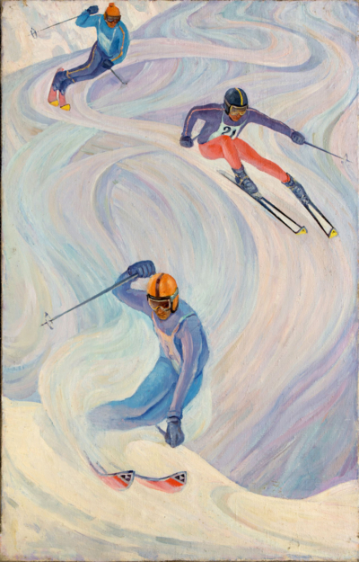 Щербинин Лыжники на спуске