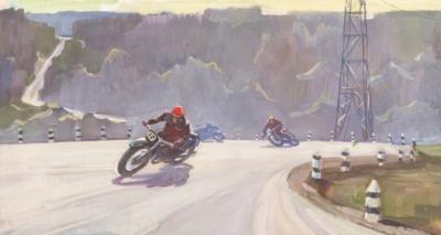 Рисунок «Шоссейно-кольцевые мотогонки»