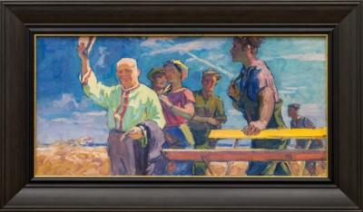 Картина «Никита Сергеевич Хрущёв приветствует хлеборобов»