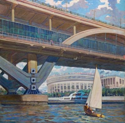 Картина «Мосты и набережные Москвы»