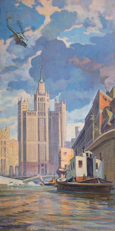 Картина «Набережные и Мосты Москвы