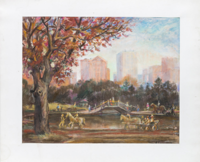 Пастель «Московский парк»