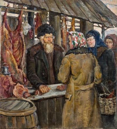 Картина «Базар. Мясной ряд»