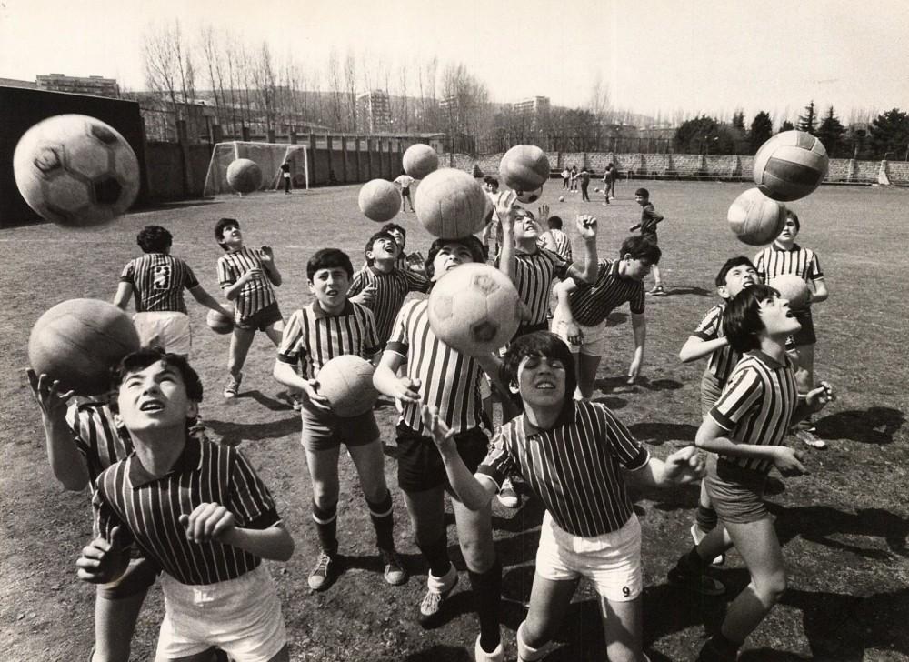 Фото «На тренировке. Воспитанники Михаила Месхи (Тбилисское Динамо)»