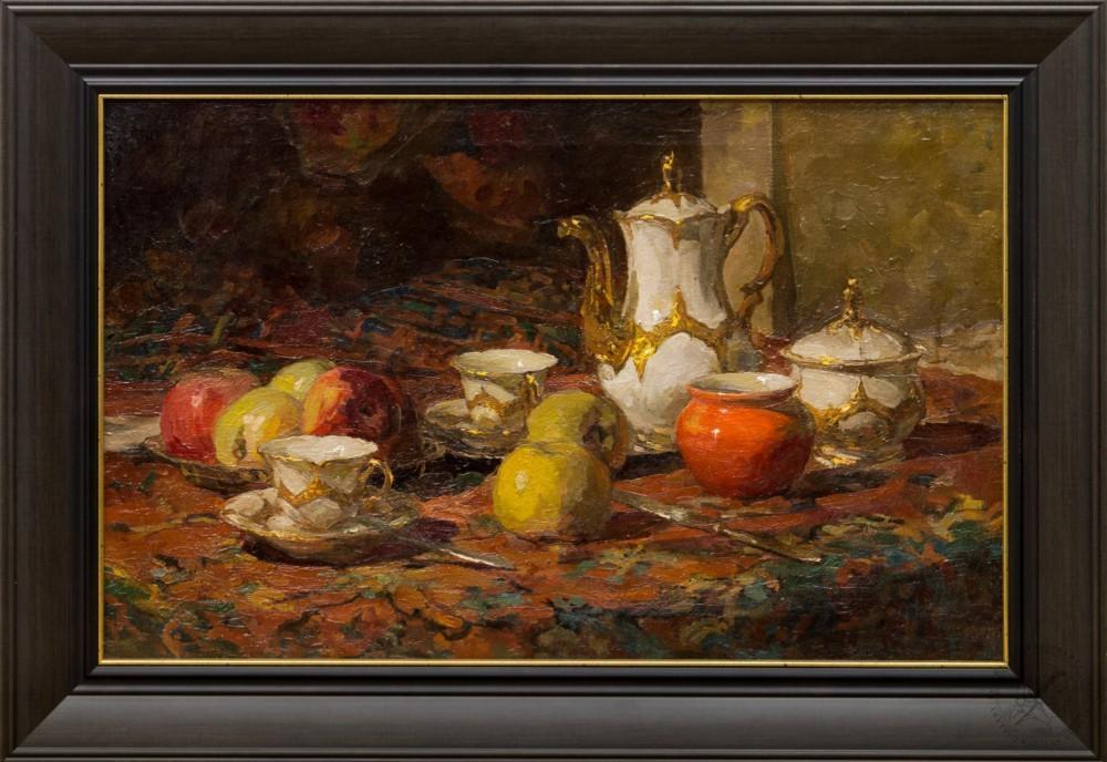 Картина «Натюрморт с чайным сервизом»