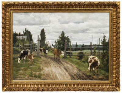 Картина «Пейзаж с коровами»