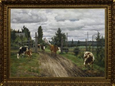 Степанов А.Н Пейзаж с коровами