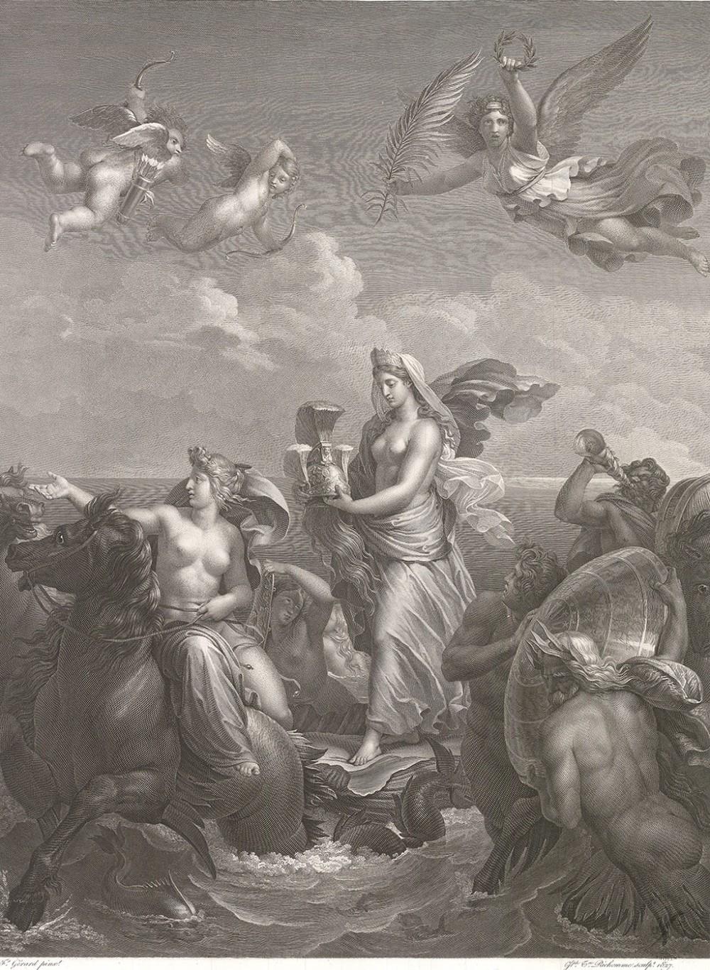 Гравюра «Фетида, несущая доспехи Ахилла»