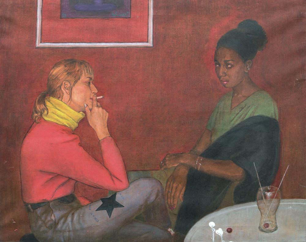 Картина «Только для мужчин. Разговор». Из серии «В наше время»