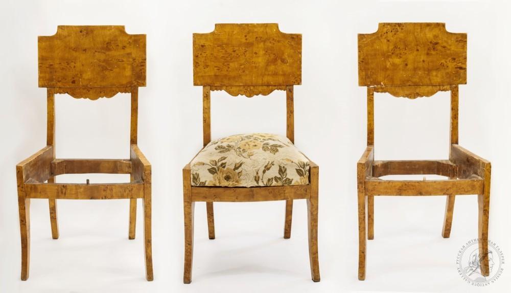 Три стула в стиле ампир