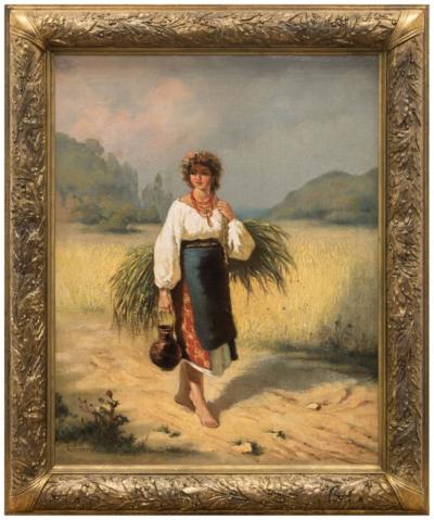 Картина «Девушка со снопом»