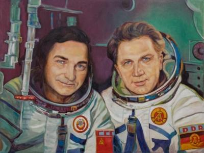 Картина «Космонавты Валерий Быковский и Зигмунд Йен»