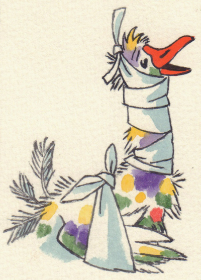 Гусь. Иллюстрация к книге Грибачева «Волшебные очки»