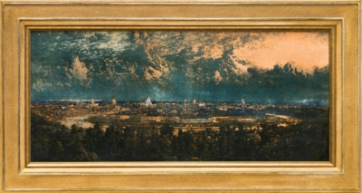 Литография «Панорама Москвы с Воробьёвых гор»