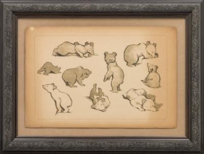 Литография «Медвежата»