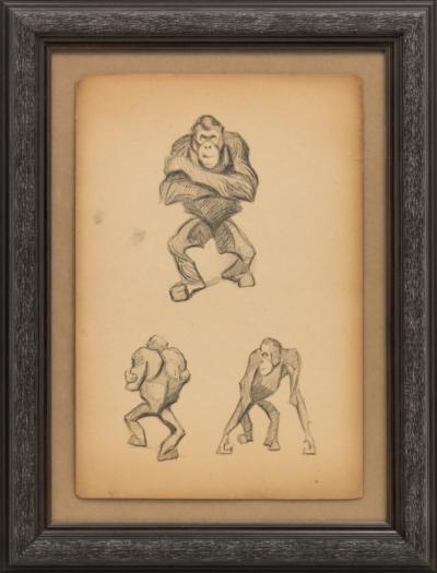 Литография «Орангутанги»