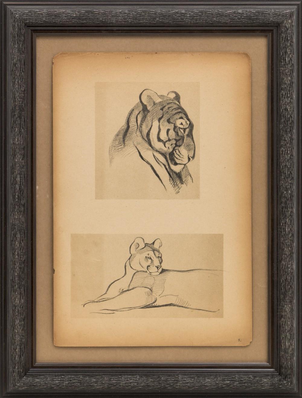 Литография «Тигр и Пума»