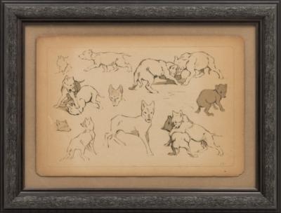 Литография «Волчата»