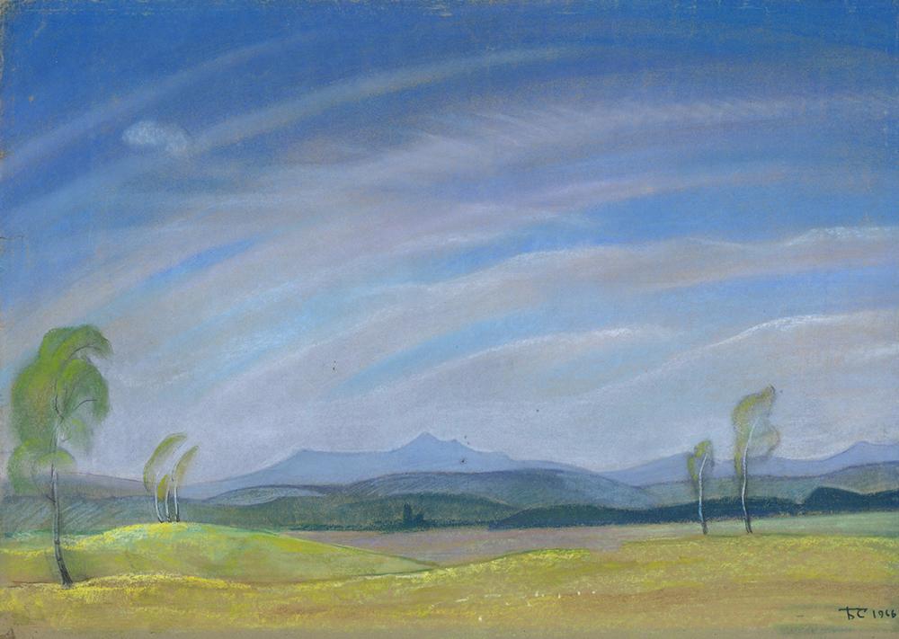 Пастель «Весенний ветер». Из цикла «Целинный край»