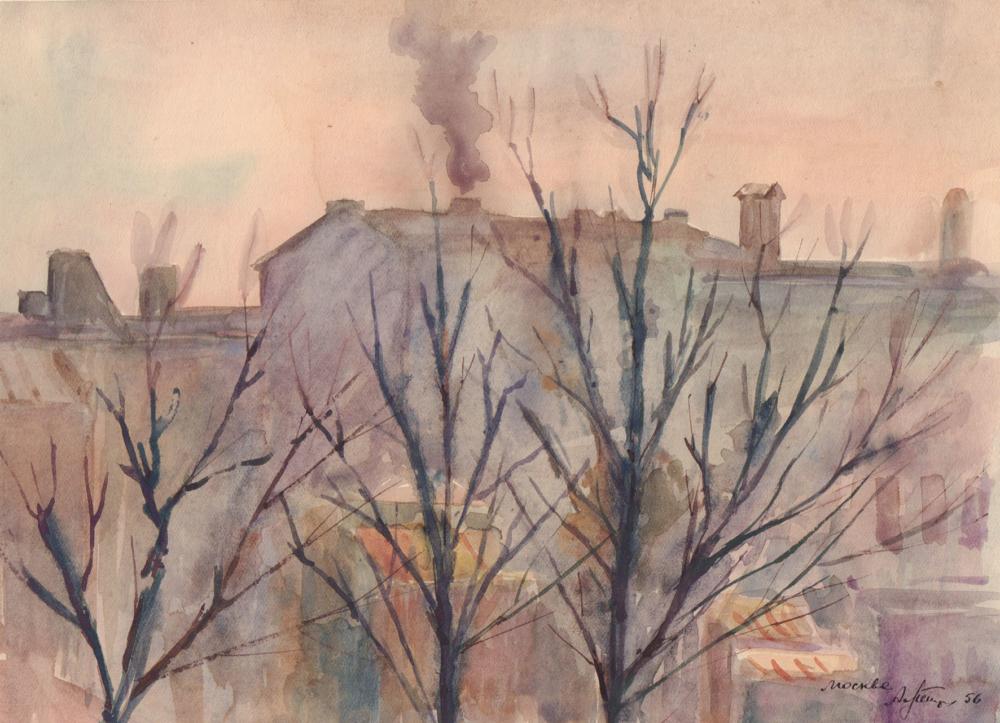 Рисунок «Весна в Москве»