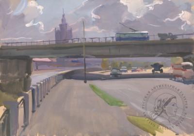 Картина «Вид на МИД от Новоарбатского моста»