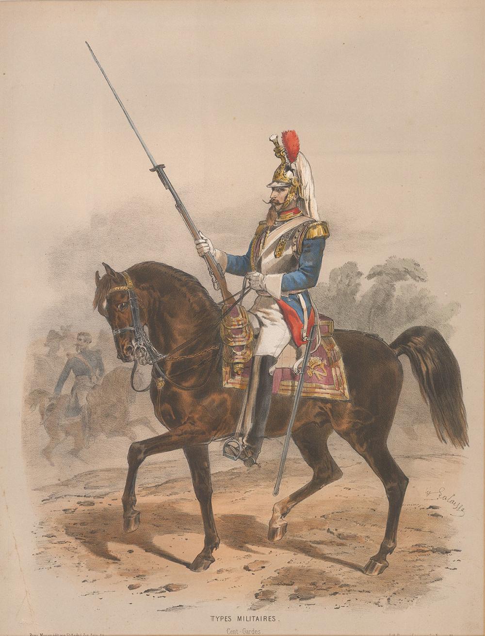Литография из серии «Военные типы»