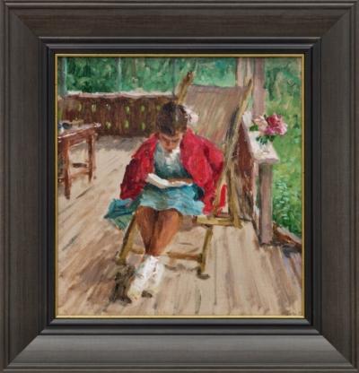 Картина «Девочка с книгой»