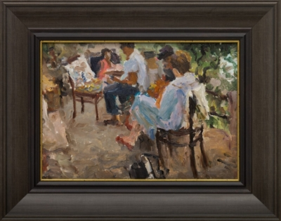 Картина «На террасе»