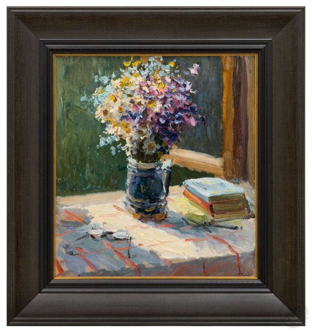 Картина «Полевые цветы в открытом окне»