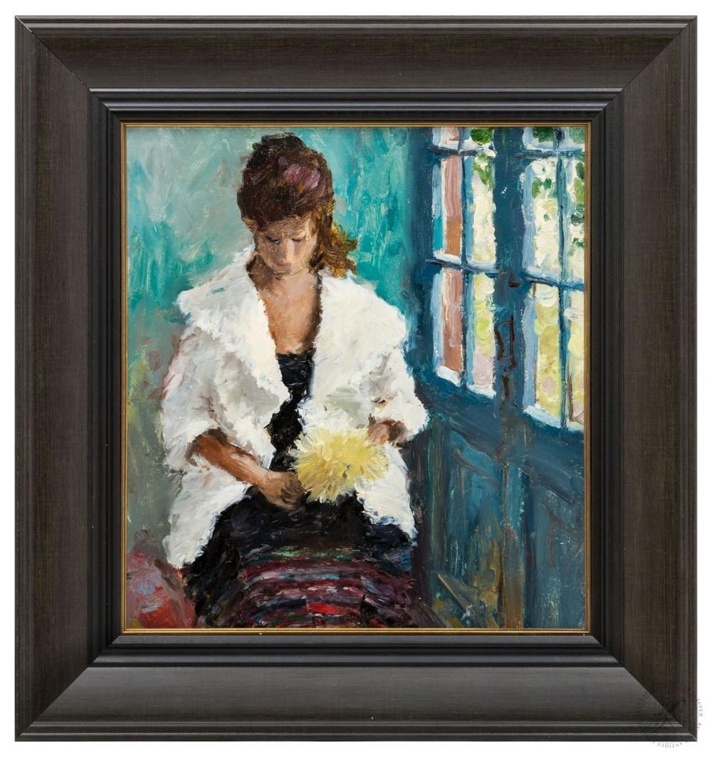 Картина «Девушка с желтым цветком»
