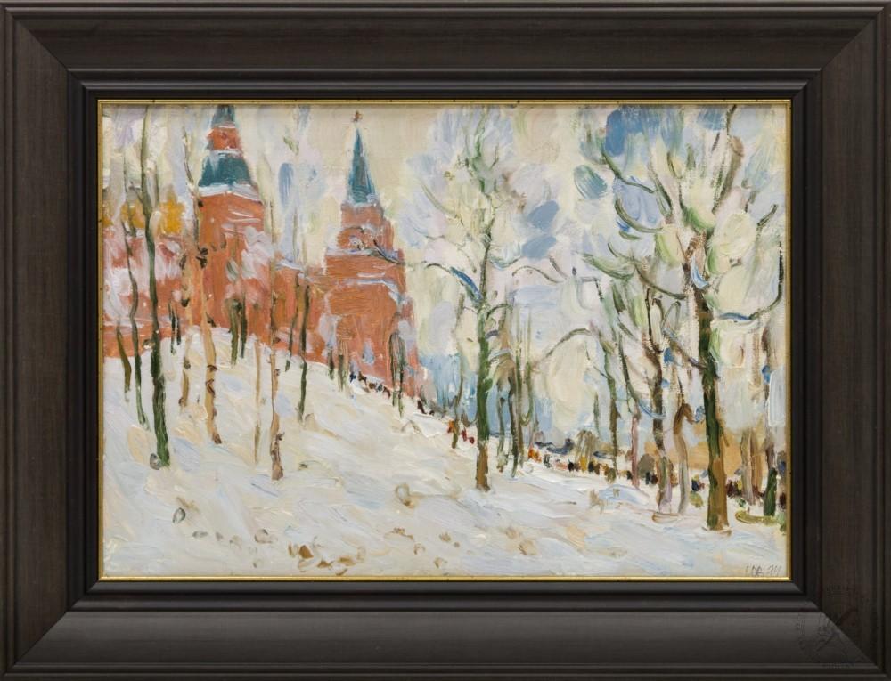Картина « У Московского Кремля»