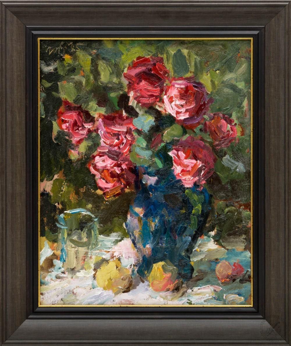 Картина «Розы в вазе»