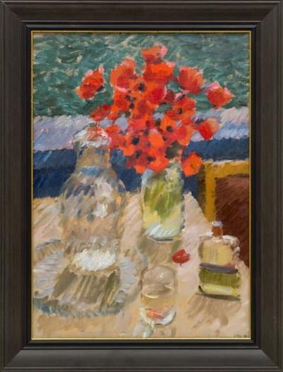 Картина «Маки в вазе»