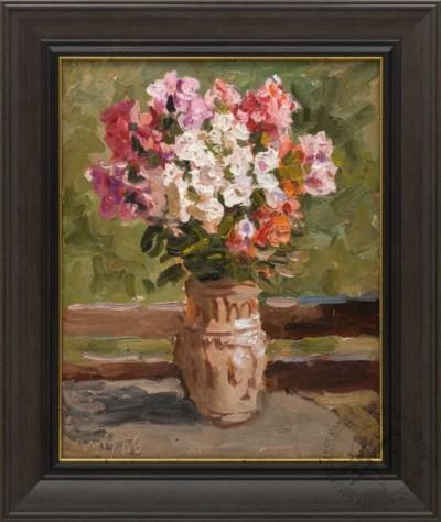 Картина «Цветы на столе»