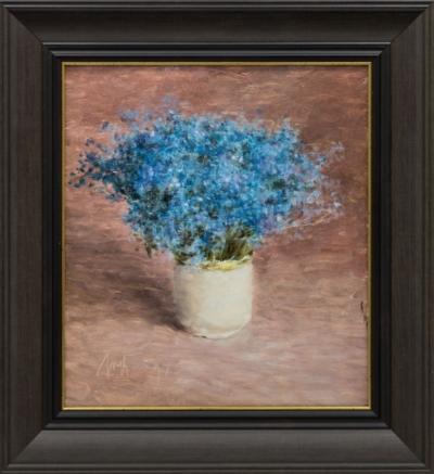 Картина «Васильки в вазе»