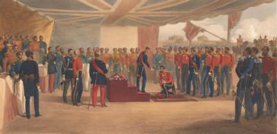 Вручение ордена Бани. В центральных казармах британской армии перед Севастополем