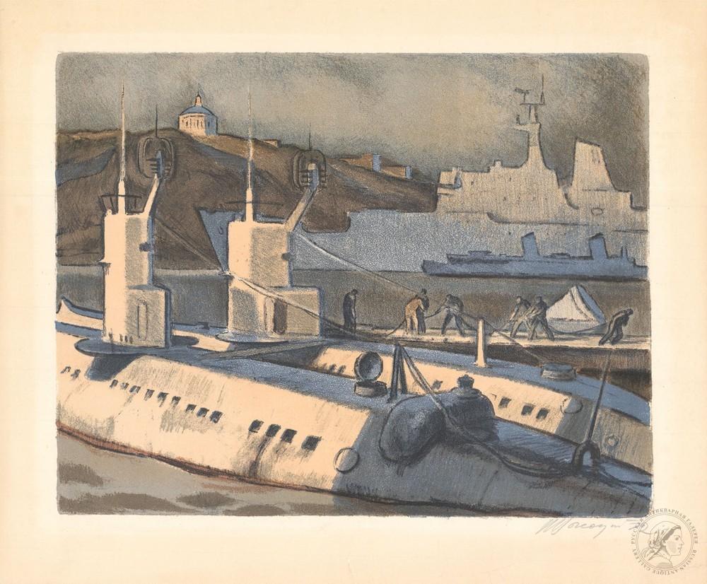 Автолитография «Севастополь. Южная бухта»