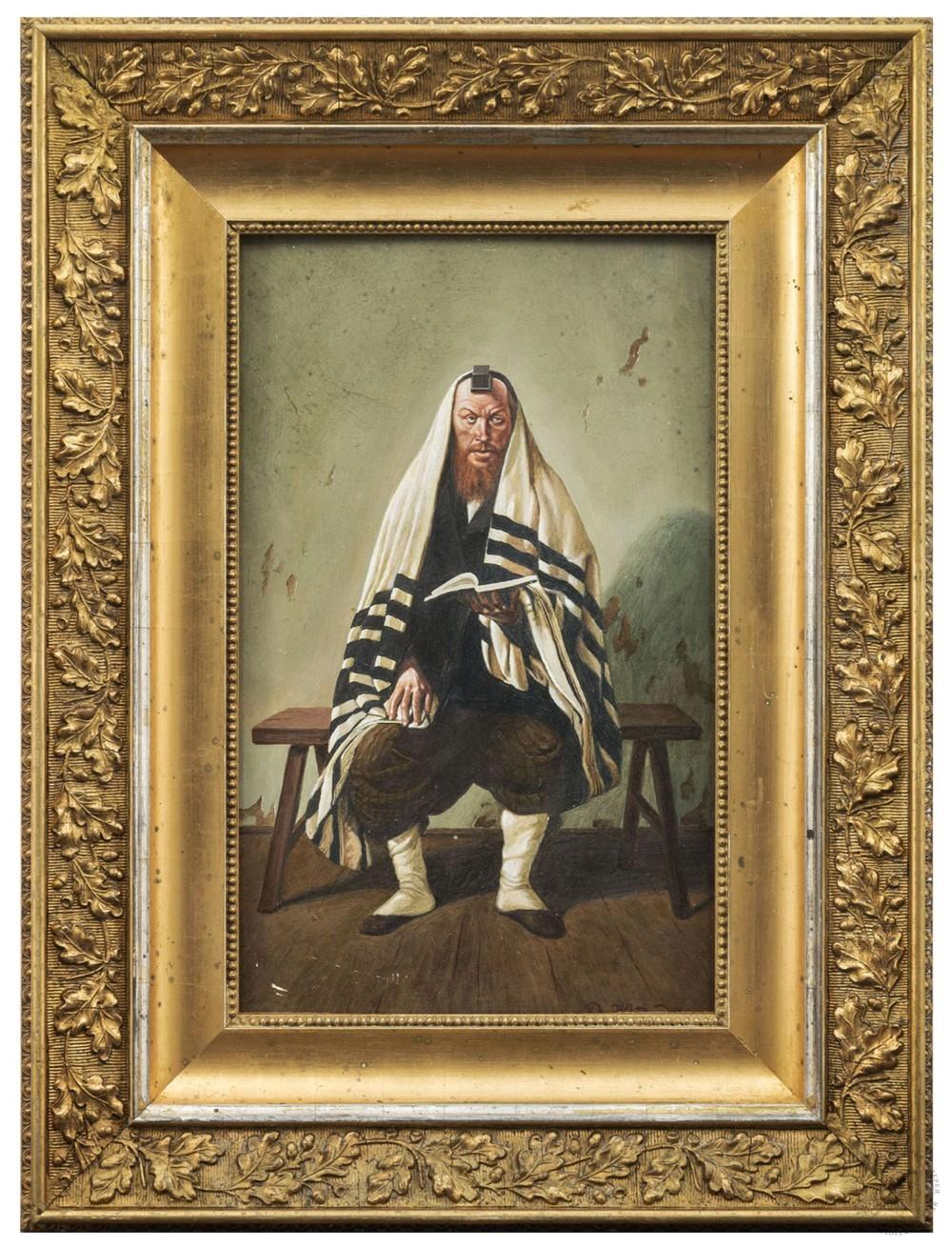Картина «Еврей читающий священную книгу»