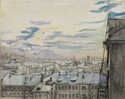 Картина «Москва. Московские крыши»