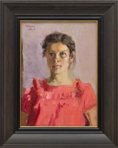 Картина «Девочка в красном»